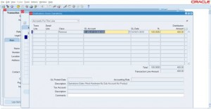 AR Invoice creation - Distributions